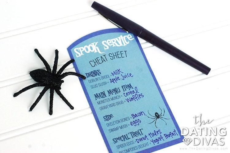 Halloween Breakfast In Bed Cheat Sheet