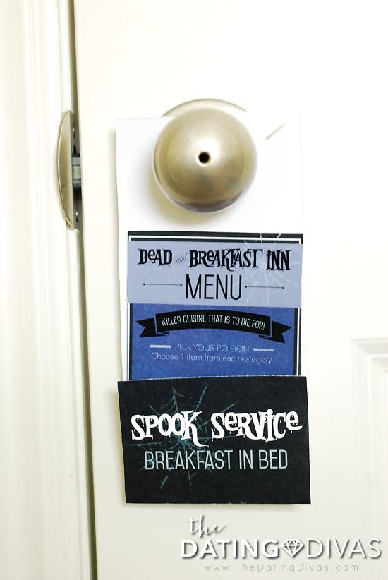 Halloween Breakfast In Bed Doorhanger