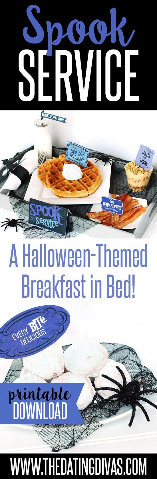 Halloween Breakfast in Bed Idea