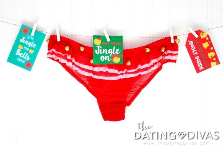 Jingle Bell Panties Gift Tags