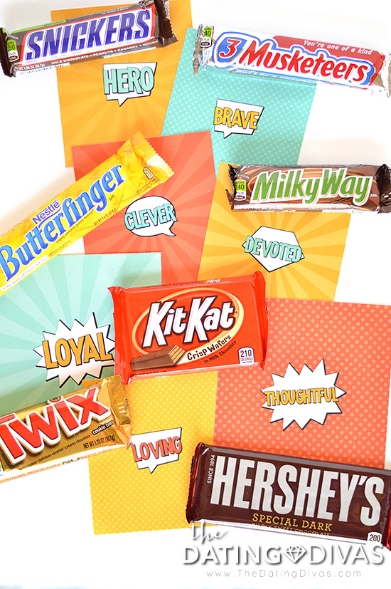 Superhero Father's Day Candy Bar Gifts