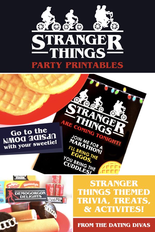Stranger Things Party Printables #StrangerThingsParty #StrangerThingsTheme