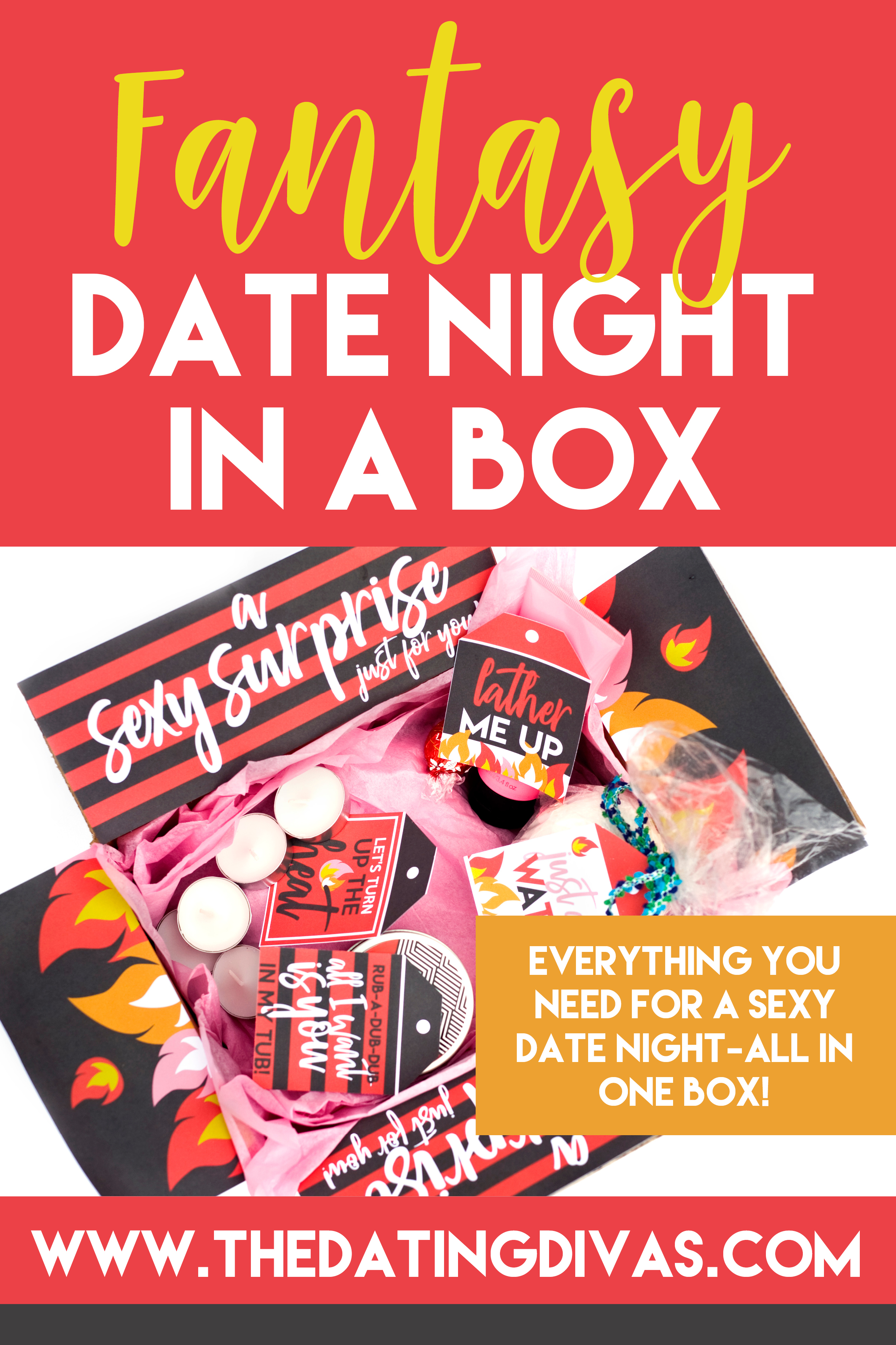 I'd love to make a sexy date night in a box a monthly tradition! Kind of like a DIY adult subscription box. #datenightin #datenightinabox #sexydatenightideas