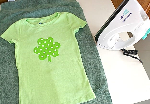 DIY your own St. Patrick's Day shirt.