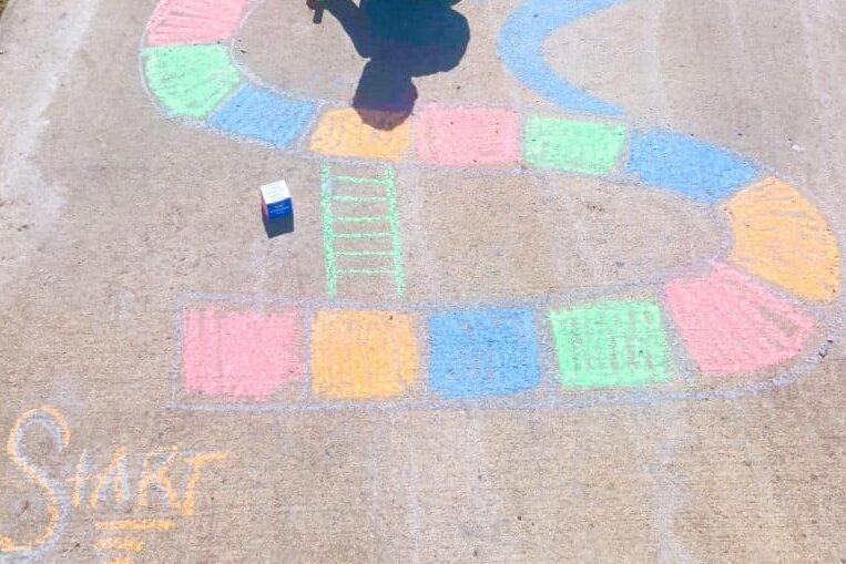 Side Walk Chalk Ideas & How to make a Side Walk Chalk Board Game | The Dating Divas